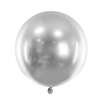 ballon argenté rond chromé
