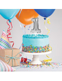 mini ballon cake topper argent