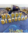 bougies happy birthday dorees