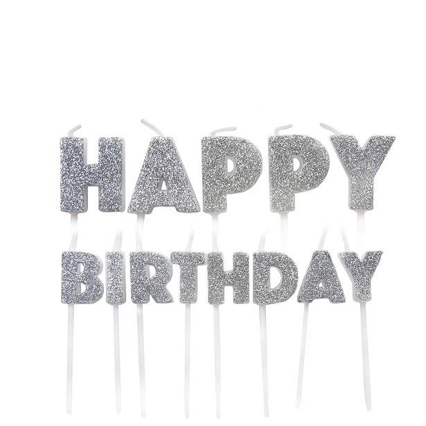 bougies happy birthday argentees en suisse