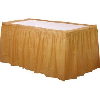 Jupe de table doré