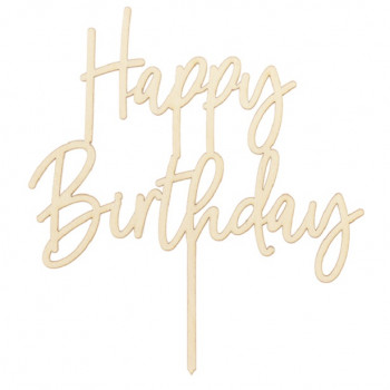cake topper anniversaire kraft