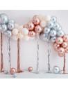arche de ballons chrome avec rideaux