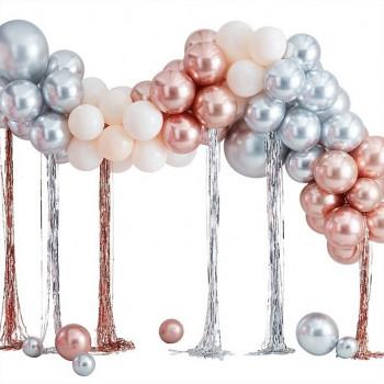 arche de ballons métallique avec streamers