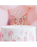 cake topper 30 ans rose gold