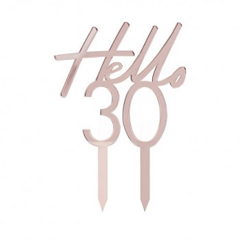 cake topper anniversaire rose gold 30 ans
