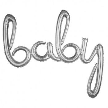 Ballons argentés baby bébé