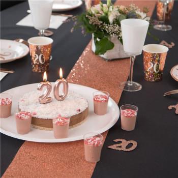 chemin de table rose gold en suisse