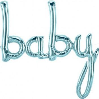 ballon de lettres baby en bleu en suisse