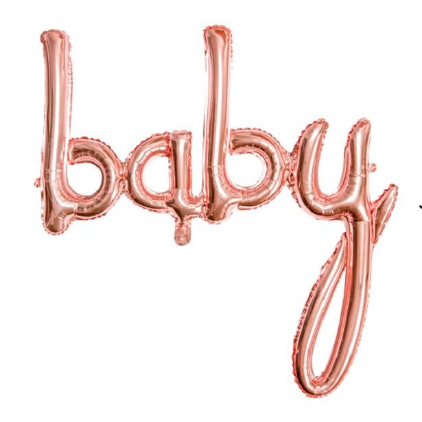BALLON BABY ROSE GOLD PAS CHER EN SUISSE