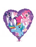 ballon aluminium en forme de coeur my little pony