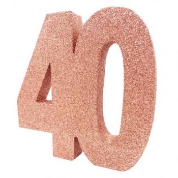 Centre de table anniversaire 40 ans en Suisse