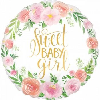 Ballon d'hélium floral anniversaire fille baby shower fille