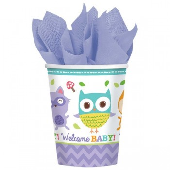 Gobelets baby shower foret