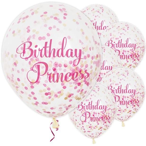 Ballons princesse anniversaire fille