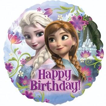 Ballon anniversaire reine des neiges