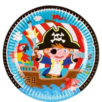 Assiettes anniversaire pirate