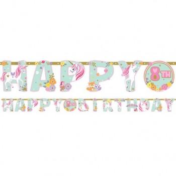 Guirlande anniversaire licorne