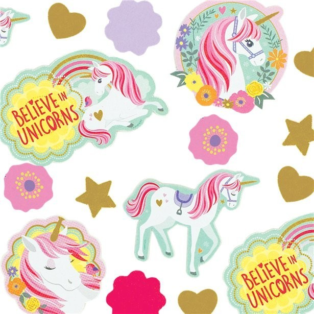 Confettis anniversaire licorne