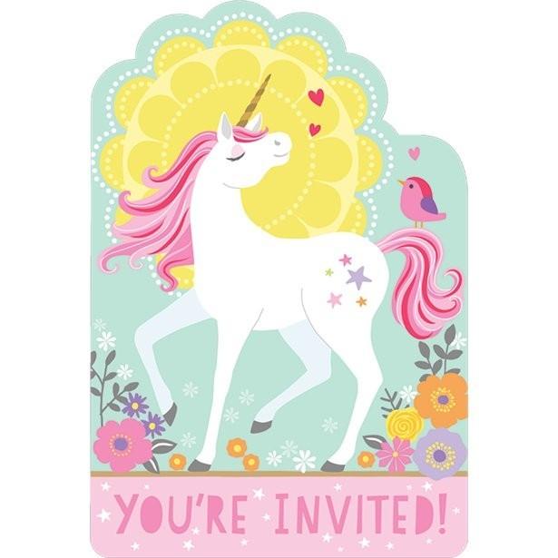 Invitations anniversaire licorne