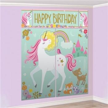 Décor murale anniversaire licorne