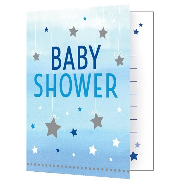 Invitations baby shower bleu