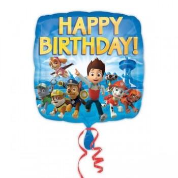 Ballon aluminium pat patrouille anniversaire