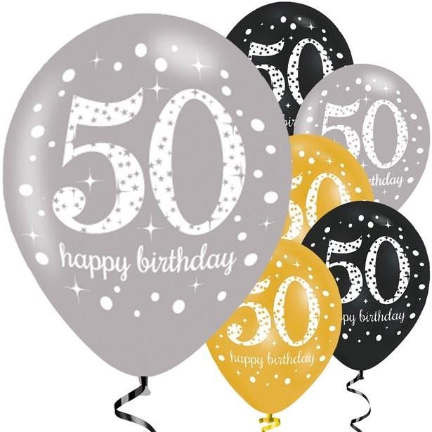 Ballons 50 eme anniversaire pas cher