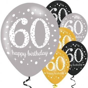 Ballons 60 eme anniversaire pas cher