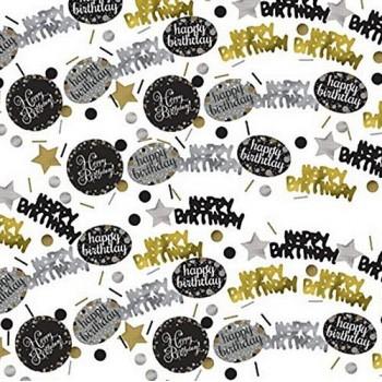 Déco de table confettis happy birthday