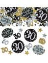 Confettis 30 ans anniversaire déco de table 18 eme anniversaire