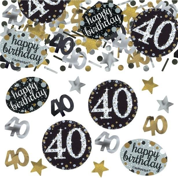 Confettis 40 ans anniversaire déco de table 40 eme anniversaire