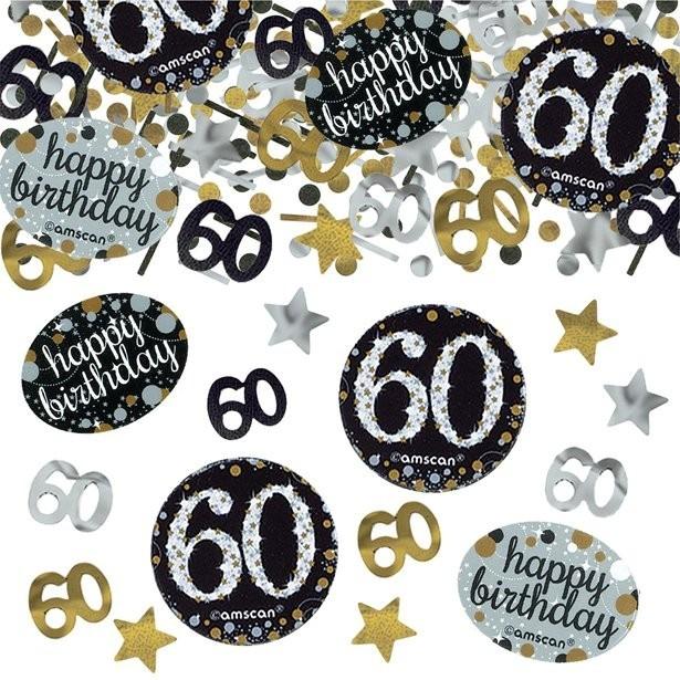 Confettis 60 ans anniversaire déco de table 60 ans