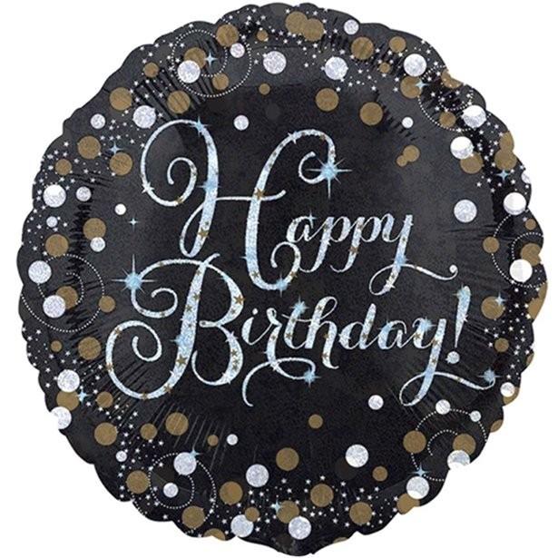 Ballon aluminium anniversaire chic