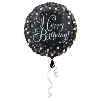 Ballon joyeux anniversaire chic en Suisse