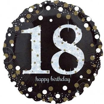 Ballon anniversaire 18 ans chic