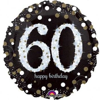 Ballons anniversaire 60 ans déco de salle 60 ans