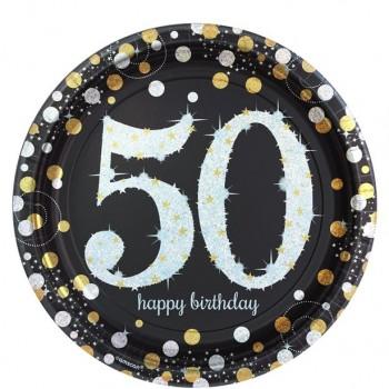 Assiettes anniversaire 50 ans