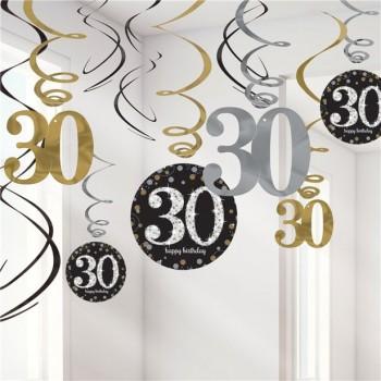 Spirales d'anniversaire 30 ans décorations 30 ans