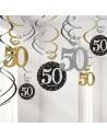 Décorations spirales 50 ans anniversaire