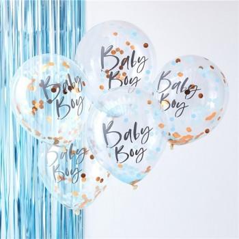 Ballons garçon douche de bébé et fête de naissance