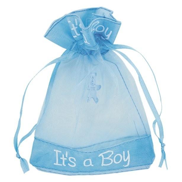 Pochettes organze bleu pour cadeaux