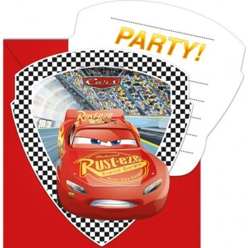 Invitations d'anniversaire cars mcqueen