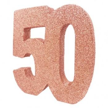Centre de table anniversaire 50 ans en Suisse