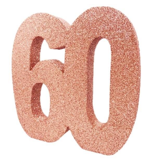 Centre de table anniversaire 60 ans en Suisse