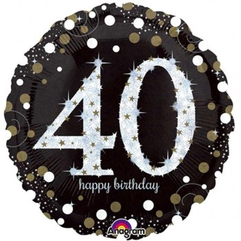 Ballons anniversaire 40 ans aluminium