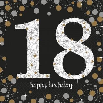 Serviettes anniversaire 18 ans
