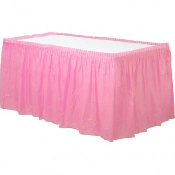 Jupe de table rose