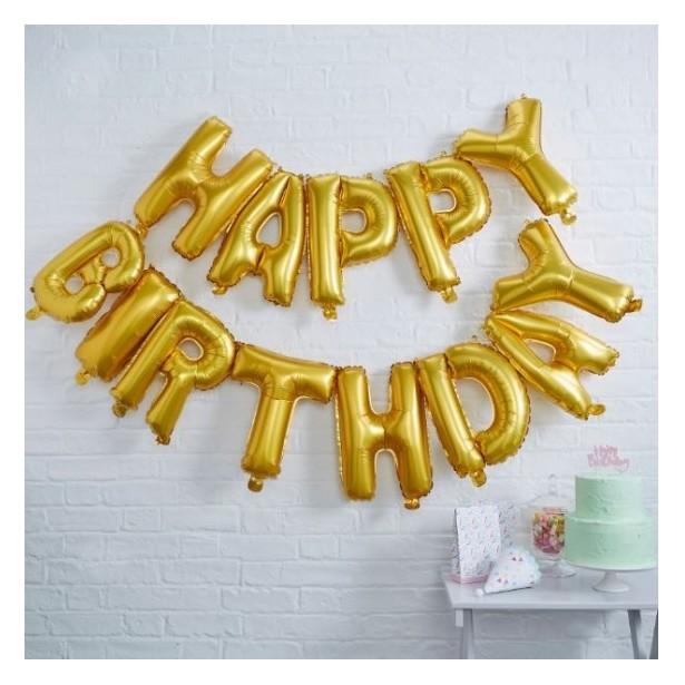 Lettres doré  joyeux anniversaire