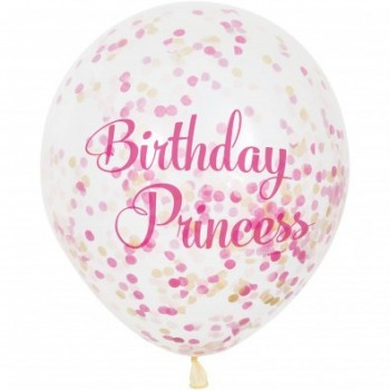 Ballon à confettis anniversaire princesse